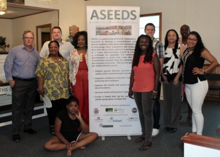 Members of ASEEDS (Achieving Sustainability through Education and Economic Development Solutions) in Duck Hill, MS.