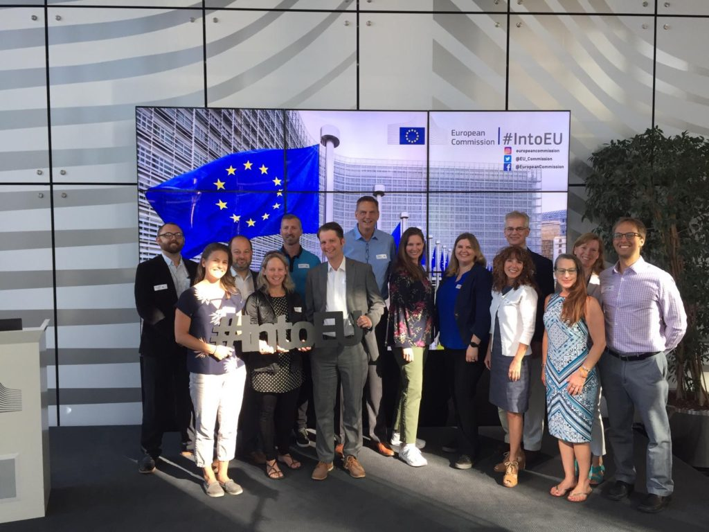 A photo of members from the European Union and the Green Capital Cities Tour