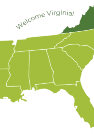 Southeast Sustainability Directors Network (SSDN) welcomes the state of Virginia and its towns, cities, and counties to our network.